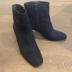 Nine West Suede Booties Blue Size 9M